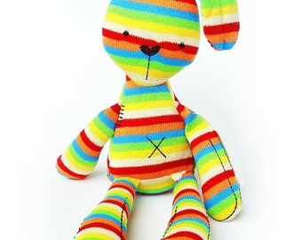 Rainbow Colour Rabbit