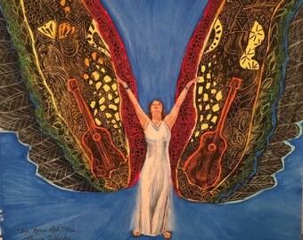 Hippie angel hippy art
