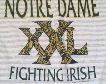 Vintage Notre Dame Fighting Irish Striped T-Shirt