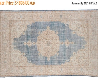 10% OFF RUG SALE Discounted 7x11 Distressed Oushak Carpet