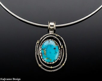 Constellation - Thunder Mountain Turquoise Sterling Silver Necklace