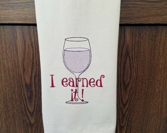 ON SALE Embroidered Kitchen Towel