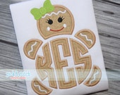 Made for Monogram Gingerbread Girl Christmas Appliqué Design Machine Embroidery INSTANT DOWNLOAD