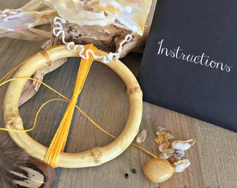 Bamboo Dream Catcher kit , includes everything you need to make your own