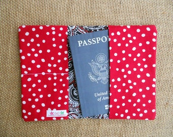 Passport Holder, Passport Cover, Passport Wallet, International Travel, Travel Gift, Fabric Passport Holder, Travel Abroad, Study Abroad