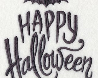 Batty Happy Halloween Embroidered Flour Sack Hand/Dish Towel