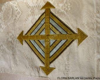 religious antique fabric pocket cross