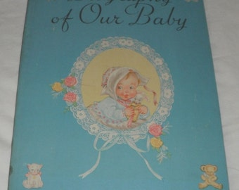 Vintage Biography of Our Baby Book Unused Baby Book 1941