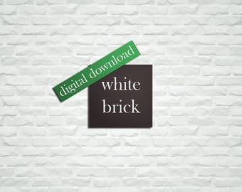 White Brick Wall, White Stone Wall, Hi Res Brick Background, Baby Photography Backdrop, Photo Studio Prop, 2 x 2 feet INSTANT DOWNLOAD