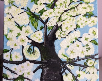 Spring Tree Oil Painting