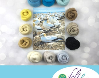 Seabird Serenity - April's Featured Merino Wool Color Palette