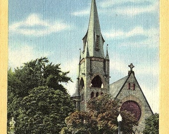 Cambridge, Maryland, Christ Church - Vintage Postcard - Linen Postcard - Unused (FF)