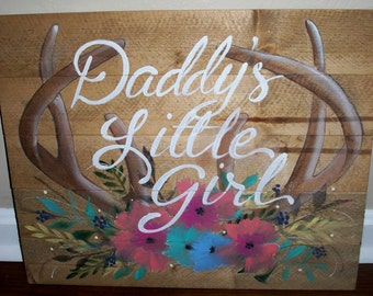 Daddy's Little Girl Redneck nursery Art