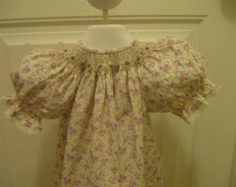 Handsmocked Bishop Dress and Smocked Bloomers sz 12mths
