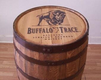 Buffalo Trace Sanded and Finished Whiskey Barrel-FREE SHIPPING