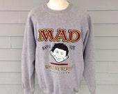 1993 Mad Magazine embroidered sweatshirt, XL