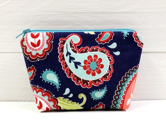 Small Zipper Pouch, Cosmetic Case, Travel Bag, First Aid - READY to SHIP