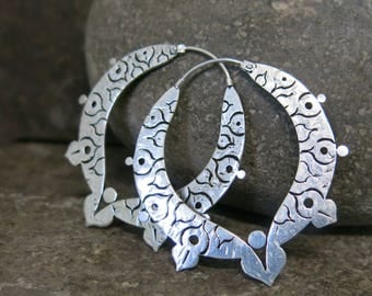 Gaia silver plated earrings