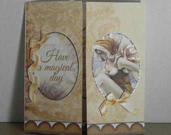 Gold Gatefold Winter Fairy card