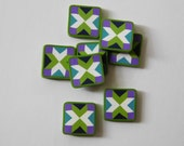 Polymer Clay Tiles for buttons or beads, Quilt Block charms