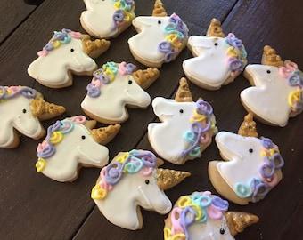 Unicorn Rainbow Small Sugar Cookies 2 Dozen