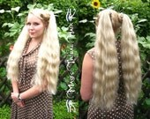 CUSTOM pair of size S plus HAIR FALLS 22''/ 55 cm Braid Wedding extension Rockabilly Ponytail wig Tribal Fusion bellydance costume accessory
