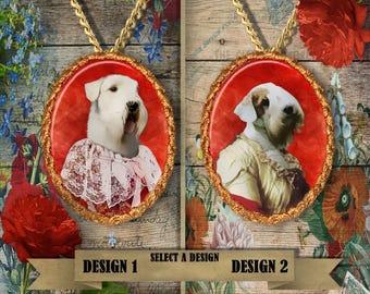 Sealyham Terrier Jewelry. Sealyham Terrier Pendant or Brooch. Sealyham Terrier Necklace. Custom Dog Jewelry by Nobility Dogs.