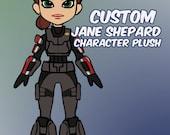 Custom Jane Shepard Mass Effect Character Plush Toy