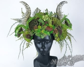 Mother Nature Headdress with Horns