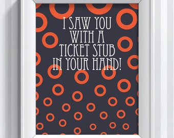 Phish Ticket Stub - 11x14 - poster print