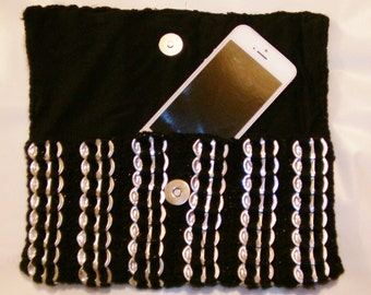 Black Pop Tab Clutch Bag