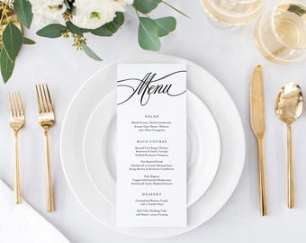 Editable Template - Instant Download Musical Dinner Menu available in Two Sizes