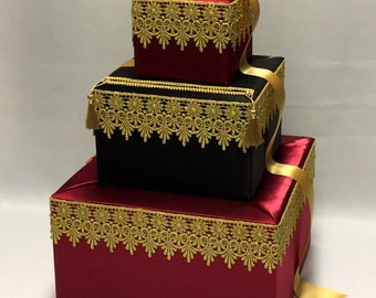 Moroccan Theme Wedding Card Box-any colors