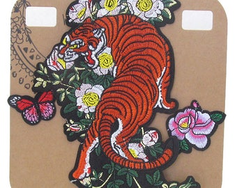 Tiger Embroidered Iron-On Patch Applique