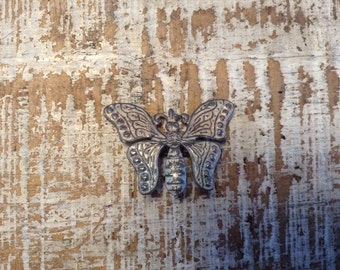 Vintage  Metal Butterfly Pin