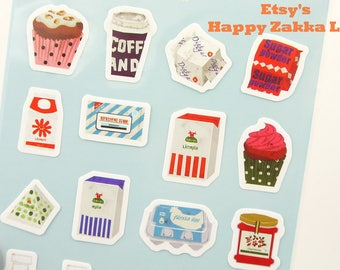 Everyday Food - Die-Cut Paper Deco Sticker - 1 Sheet