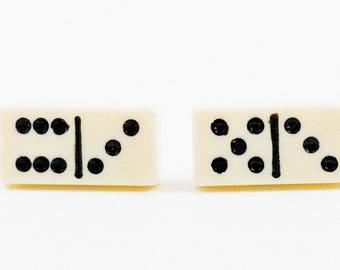 White and Black Domino Cufflinks
