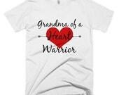 Grandma of a Heart Warrior Shirt - Choose Color
