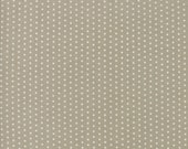 Tan and White Polka Dot Fabric - Darling Little Dickens by Lydia Nelson from Moda 1 Yard