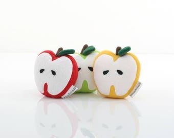 3 Apple Plush Set ( Red/Gold/Green)