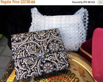Now On Sale Retro Cool Designed Purse Clutch with Gold Foil type of material with vintage mirror flower motif
