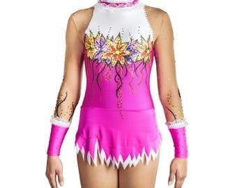 Rhythmic Gymnastics Leotard #145 for Competition | Order as Ice Figure Skating Dress, Acrobatic Gymnastics Costume or Baton Twirling Leotard