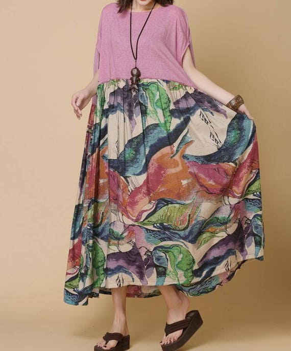 Loose Summer long sundress long oversize dress