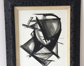 Black and White Abstract, Black Frame