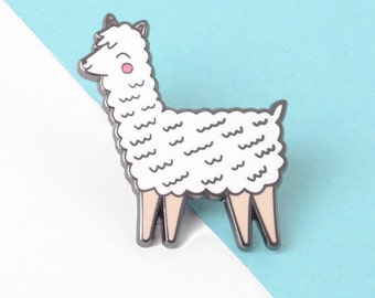 Cute Llama Enamel Pin Lapel Pin Hard Enamel Pin Badge Alpaca Lapel Pin Llama Gifts Hat Pin