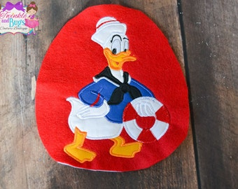 Sailor Duck applique shirt, character, custom clothing, applique, embroidery, characters, boys and girls clothing, Christmas