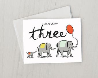 Baby Makes 3 Greeting Card