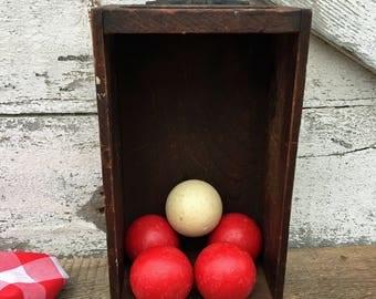 Vintage Set of Bumper Pool Balls - Set of 5 - Vintage Billiard Balls