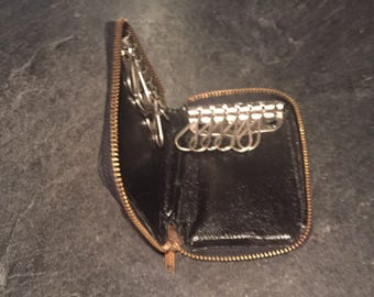 Vintage Key Case Calf Leather zipper Carl Fischer Musical Instrument Company
