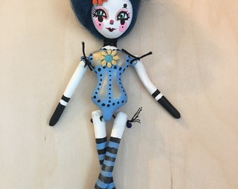 """9"""" paper clay doll ornament circus girl"""